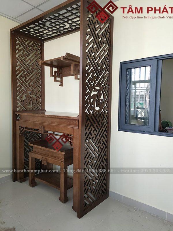 Bàn thờ Gia tiên kết hợp bàn thờ Phật treo tường mẫu BT085