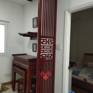 Bàn thờ đứng kết hợp bàn thờ treo tường thợ Phật