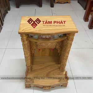 Mẫu bàn thờ thần tài gỗ gõ BTT3301