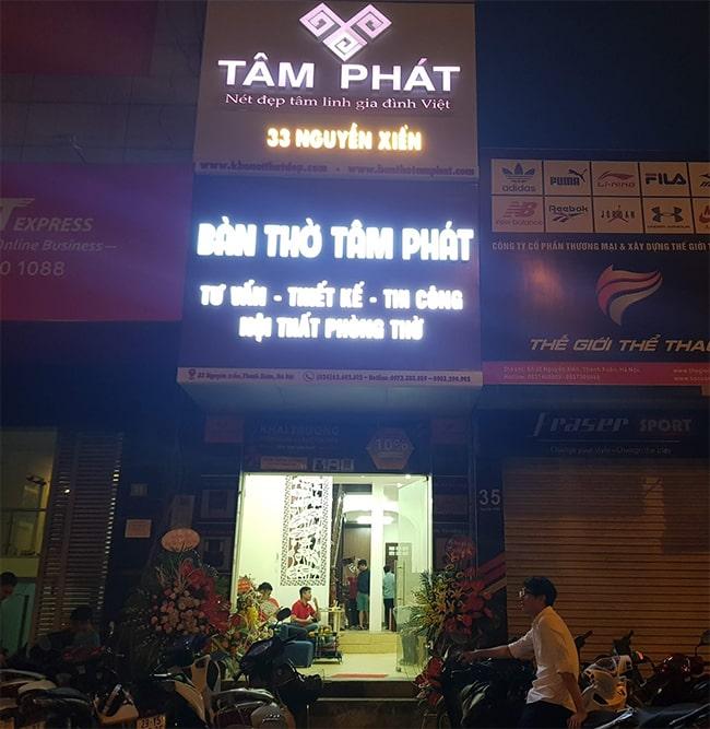 Showroom bàn thờ Tâm Phát tại Hà Nội