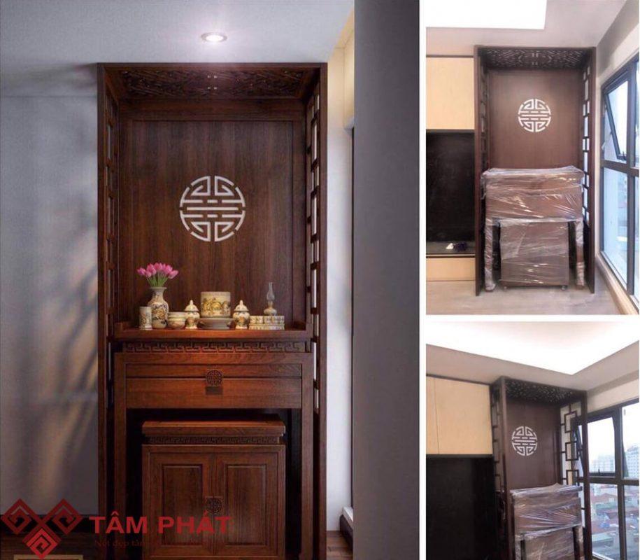 Vận chuyển và lắp đặt bàn thờ gỗ BTG108 tại chung cư SG Intela