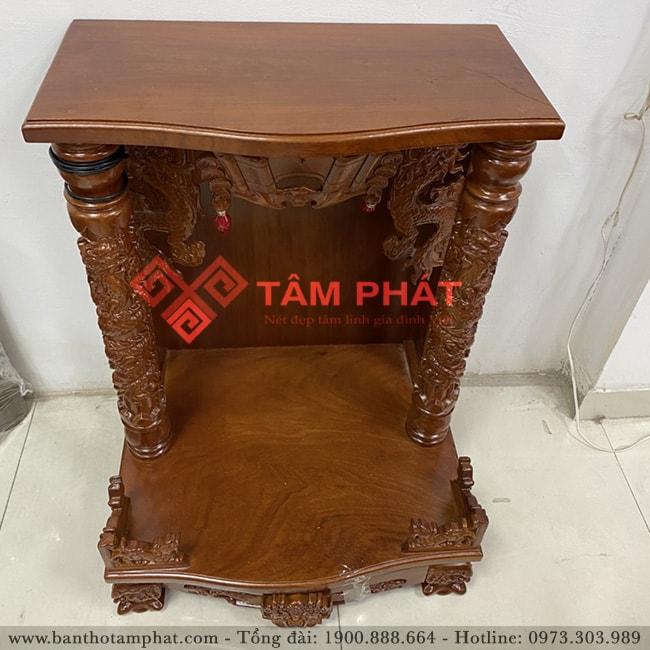 Tư vấn lựa chọn mẫu bàn thờ thần tài gỗ gõ mẫu BTT3308