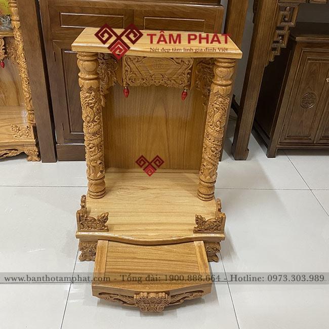 Bàn thờ Thần Tài BTT3308 màu vàng sáng đẹp mắt