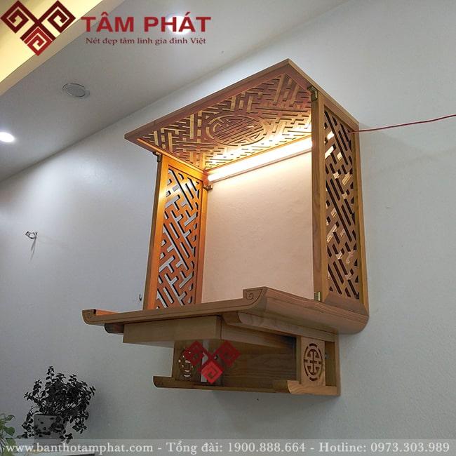 Bàn thờ gỗ treo tường có ngăn kéo mẫu TT-2010 tại Tâm Phát