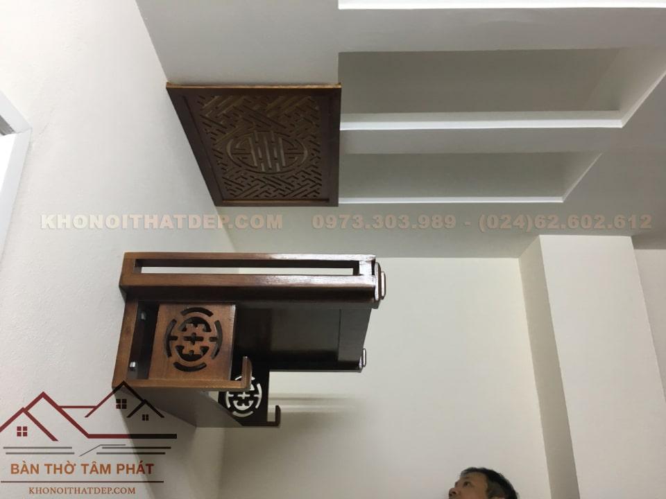 Lắp đặt bàn thờ treo tường TT007 Tâm Phát