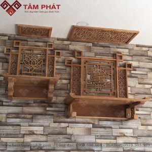 Bàn thờ treo tường 2 tầng mẫu TT-2201