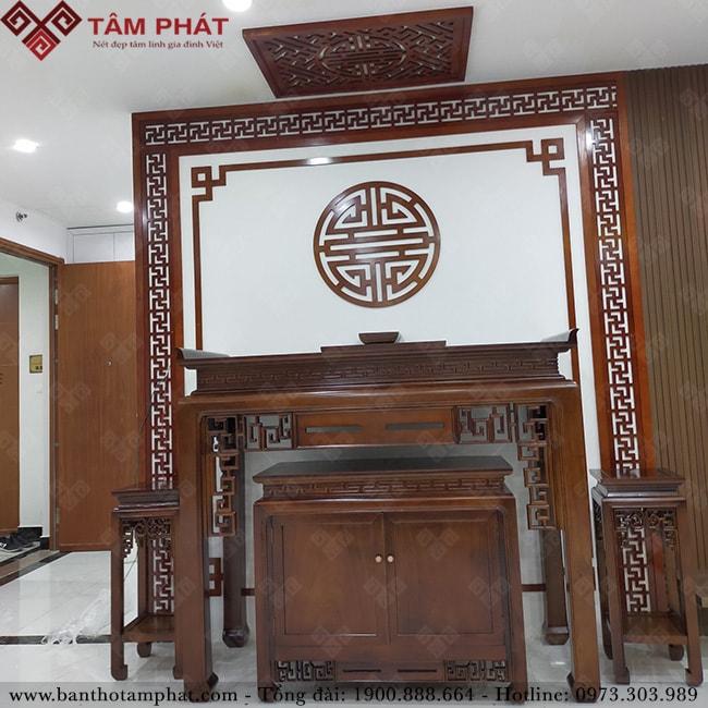 Feedback bàn thờ từ chị Nhi căn hộ 188m2 CC Carina Q.8, HCM