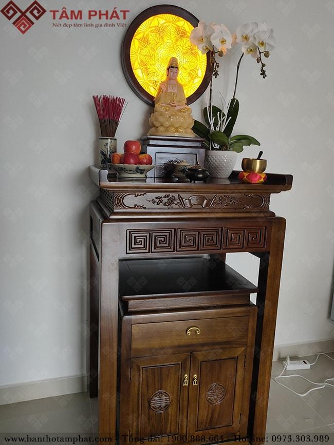 Reviews bàn thờ nhà anh Hào căn hộ Carillon 1 rộng 100m2