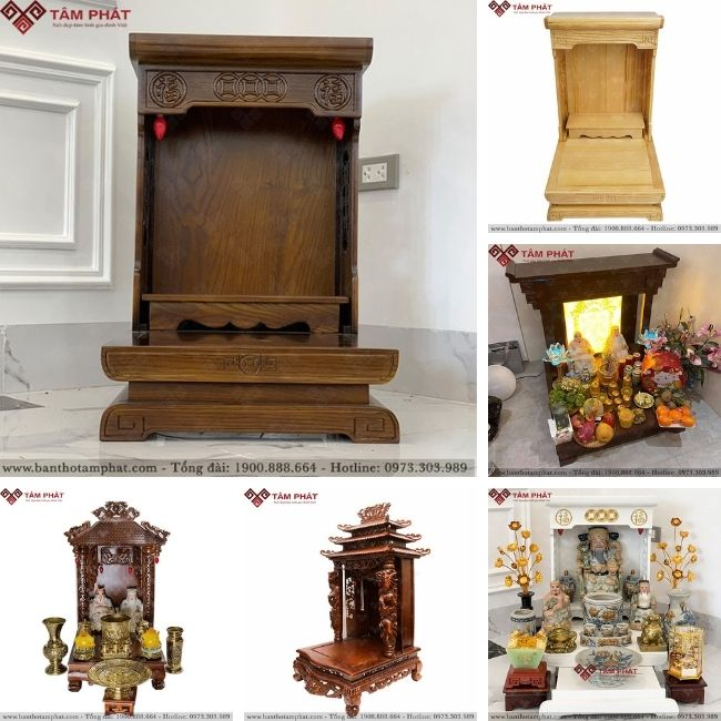Tặng kệ hoặc đế bát hương khi mua bàn thờ thần tài