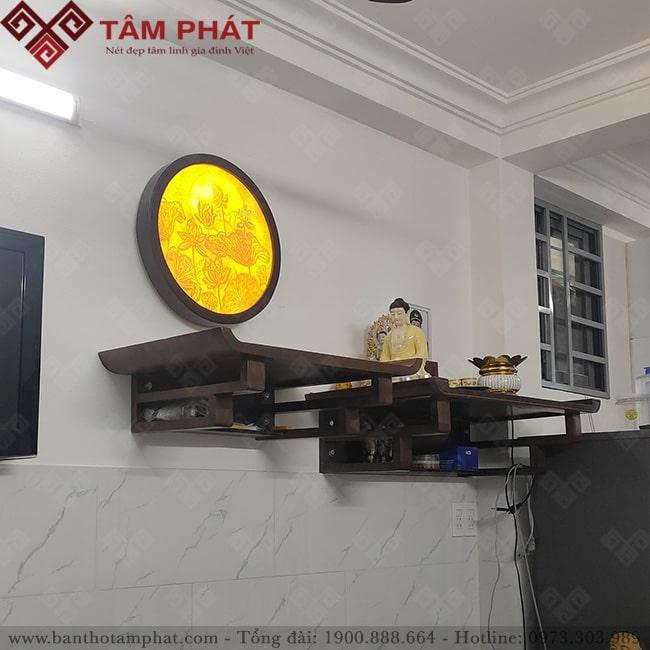 Có thể kết hợp 2 bàn thờ treo thờ Phật và gia tiên