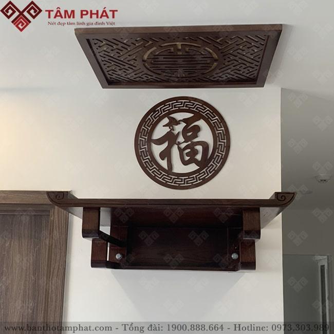 Bàn thờ treo đơn giản phù hợp với căn hộ chung cư