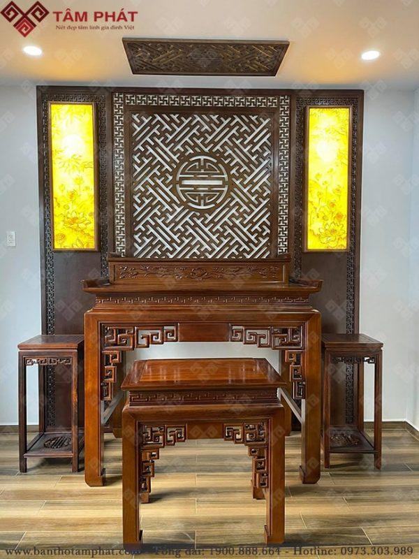 Mẫu bàn thờ gỗ Gụ đẹp