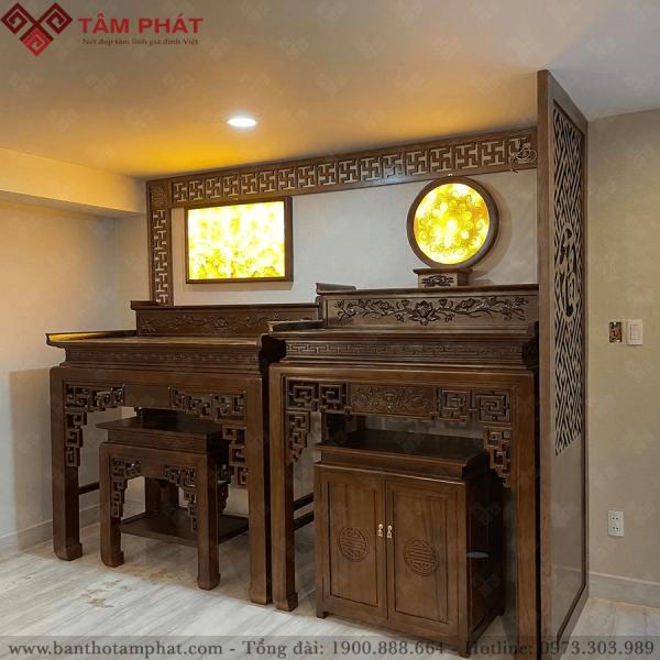 Mẫu bàn thờ gỗ Gụ 2 cấp BT1051