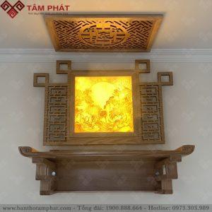 Bàn thờ treo Tâm Phát thiết kế tinh tế