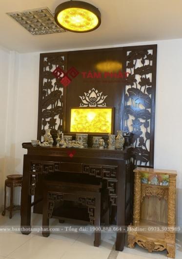 Feedback lắp bàn thờ căn hộ 109m2 của chị Linh tại The Penta