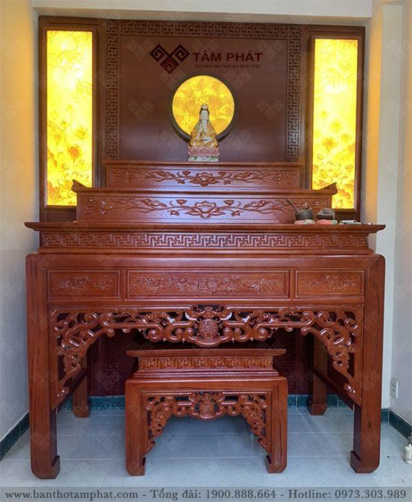 Bàn thờ Tam cấp sử dụng mẫu BT048