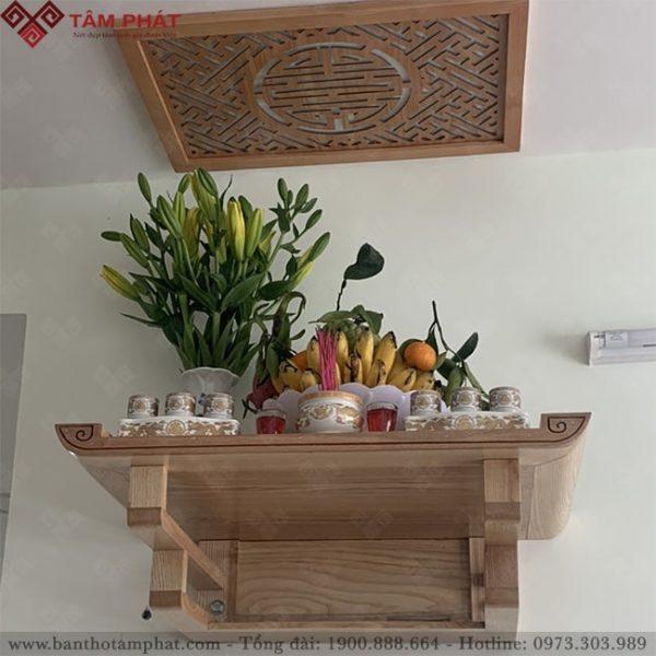 Bàn thờ treo tường Tâm Phát được thiết kế chắc chắn
