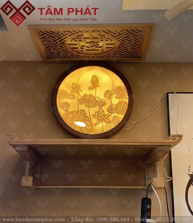 Bàn thờ treo mẫu TT2096 màu sáng sồi
