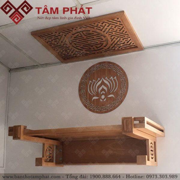Mẫu bàn thờ treo đẹp được nhiều khách hàng lựa chọn