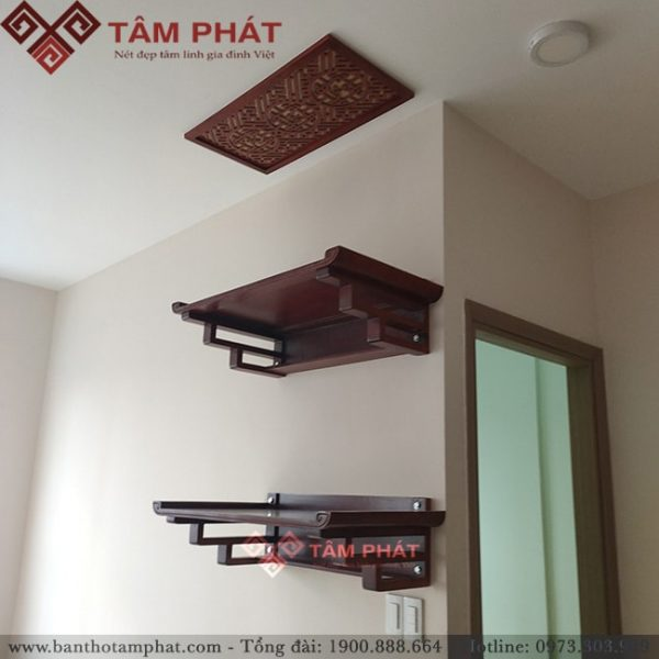 Mẫu bàn thờ treo 2 tầng cho nhà chung cư