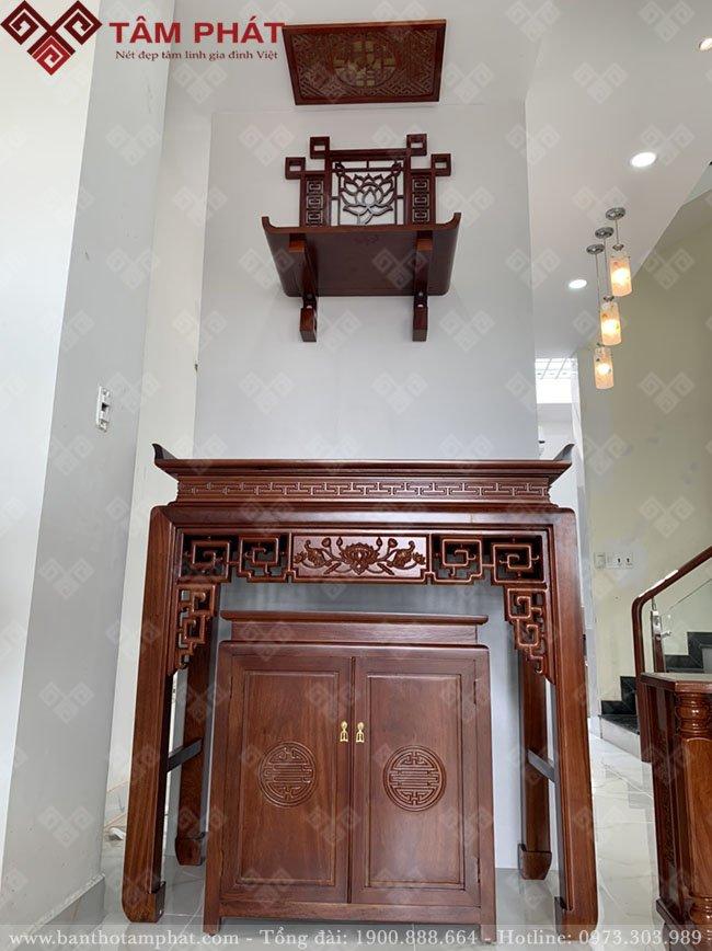 Mẫu bàn thờ Phật và gia tiên bán chạy nhất Tâm Phát