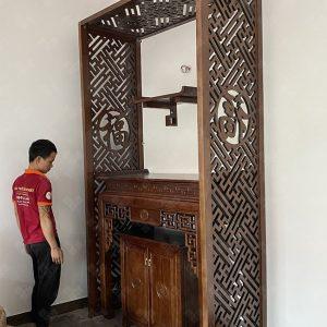 Bàn thờ đứng kết hợp bàn treo thờ Phật mẫu BT-1088