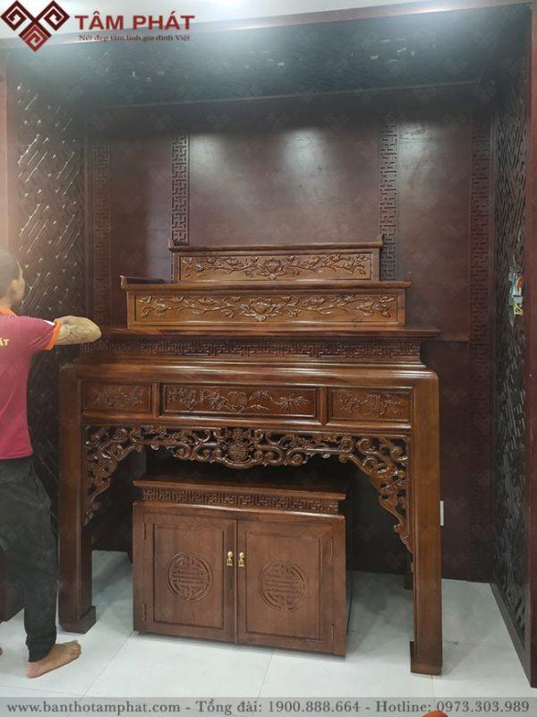 Mẫu bàn thờ thường làm cho phòng thờ riêng