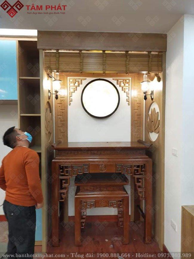 Feedback lắp bàn thờ từ anh Khôi chung cư Park 1, Hoàng Mai