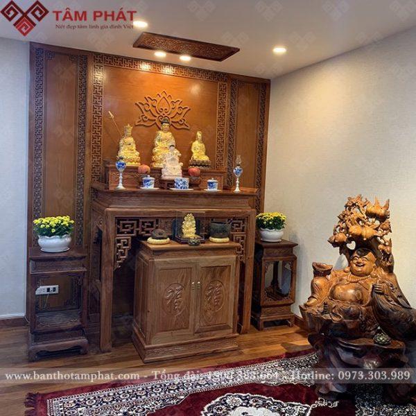 Bàn thờ gỗ hương đá hiện đại BT-1126